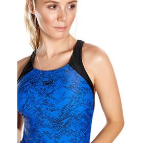 speedo Boom Allover bikini Dames blauw/zwart